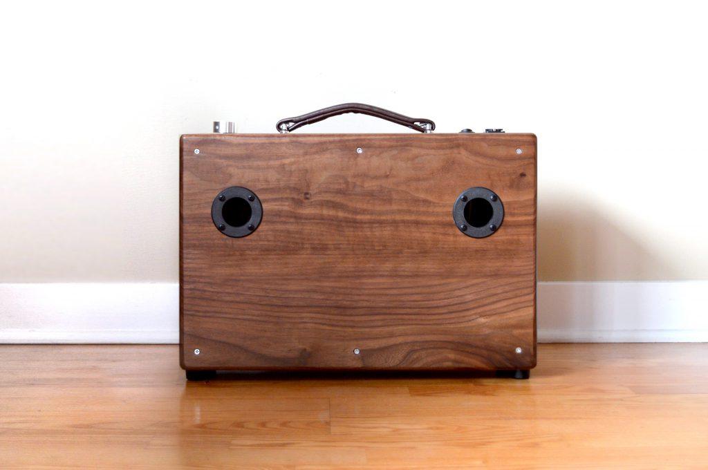 Modern Hifi modern walnut boombox the hifi