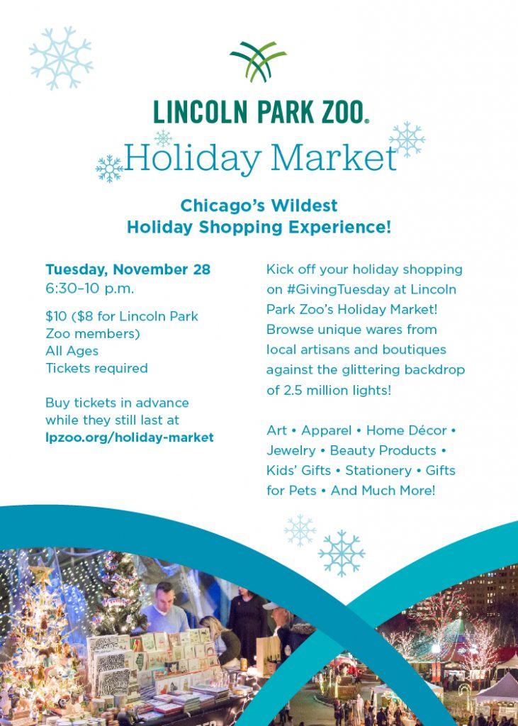 Lincoln park Zoo Holiday Market Flyer